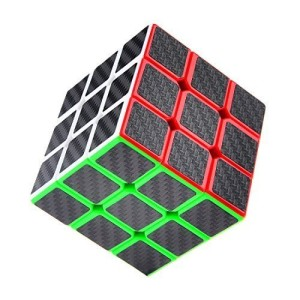 Puzzle Cube, Haip® 3x3x3 Carbon Fiber Sticker Speed Smooth Magic Cube Puzzle Cube Black