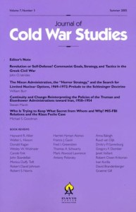 Journal of Cold War Studies