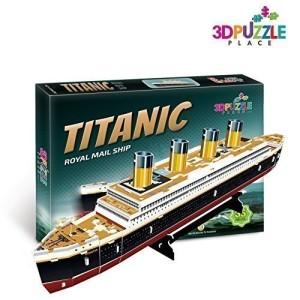 3D PUZZLE TITANIC BOAT Royal Mail Ship (JP Morgan's Marine) 3D-Puzzle-Place Cubic-fun T4012h 35 Pieces