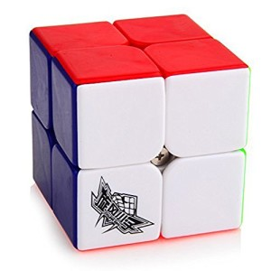 Free Stand Cyclone Boys Speed Cube 2x2x2 Stickerless Magic Cube Puzzles Colorful,50mm