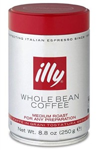 illy Caffe Normale Whole Bean Coffee, Medium Roast, Red Top, 8.8 coffee cans
