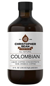 Colombian Cold Brew Or Hot High Yield Liquid Coffee Concentrate 8 Ounce Bottle