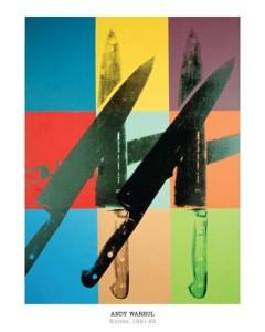 Knives, 1981-82 Andy Warhol Fine Art Print 16x 20 (16 X 20)