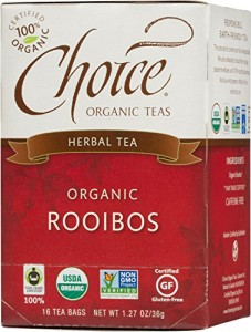 Choice Organic Rooibos, Red Bush Tea, Caffeine Free, 16-Count Box (Pack of 6)
