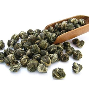 Imperial Jasmine Dragon Pearls Green Tea Loose Leaf - Best Jasmine Tea - Organic