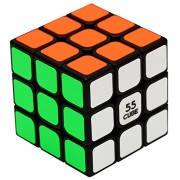 "55cube, Anti-pop Speed Cube, Quicker, Easier & More Precisely Than Original Speed Cube, Super-durable, Vivid Color 3x3 Puzzle Cube, 3 Layer Speed Cube 2.2"" Black, 100% Money Back Guarantee!"