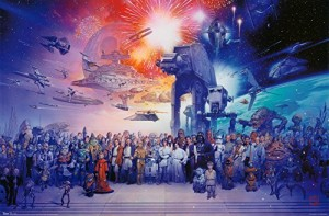 Trends International Unframed Poster Prints, Star Wars Galaxy