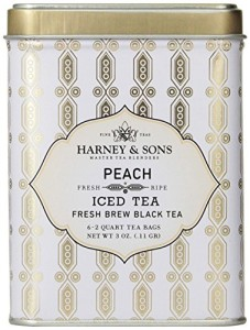 Harney & Sons Black Iced Tea, Peach, 6 Tea Bags