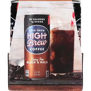 High Brew Coffee Coffee - Ready to Drink - Black and Bold - Dairy Free - 4/8 oz - case of 6
