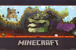 Trends International Unframed Poster Prints, Minecraft World