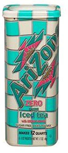 AriZona Sugar Free Lemon Iced Tea Mix, Each Tub Makes 2 Quarts, 6 Count