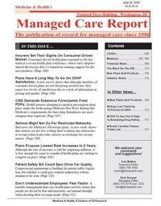 Managed Care Report : Medicine & Health