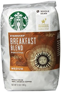 Starbucks Breakfast Blend Whole Bean Coffee (Medium), 12 oz