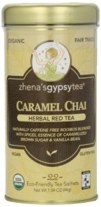 Zhena's Gypsy Chai Red Tea, Caramel, 22 Count