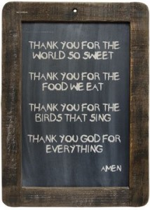 "Framed Prayer Blackboard - Thank You God - 13-3/4"" Primitive Country Rustic Inspirational Wall Decor"