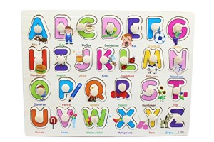 YouΞ Classic Wooden Alphabet Puzzle Bundle Board