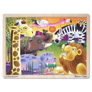 Melissa & Doug African Plains Jigsaw 24 pcs Puzzle