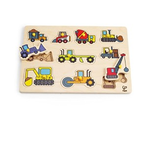 Hape - Construction Site Wooden Peg Puzzle