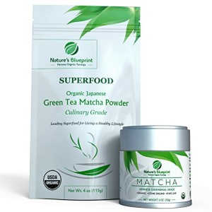 Matcha Green Tea Powder-Organic Japanese Ceremonial-Culinary-Variety Grades-Premium Quality-Powerful Antioxidant Energy for Health & WeightLoss.