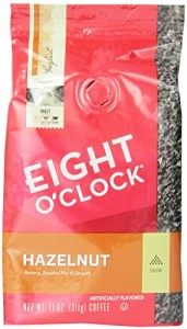 Eight O'Clock Hazelnut Ground Coffee, 11-Ounce Bags (Pack of 6)