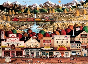 Buffalo Games Sleepy Town West by Charles Wysocki Jigsaw Puzzle (1000 Piece)