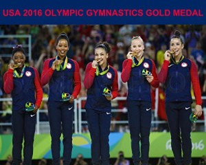 USA 2016 RIO Olympic Gymnastics Gold Medal 8X10 Photo