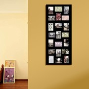 Adeco [PF0245] Decorative Black Wood Wall Hanging Collage Picture Photo Frame, 21 Openings, 4x6 inches