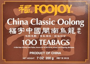 Foojoy China Classic Min-nan Oolong (Wulong) Tea, 2g X 100 Teabags,
