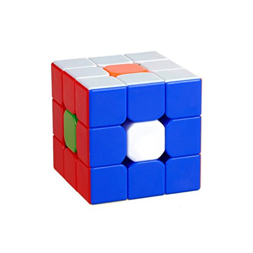 Amsam Kungfu 3x3 Stickerless Speed Cube, Durable with Vivid Color, Smooth cornering Brain Teasers Puzzle Cube