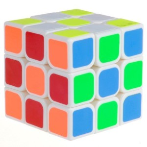 D-FantiX Yj Guanlong Speed Cube 3x3 Magic Cube Puzzle White 56mm