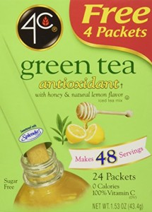 4C Totally Light Tea 2 Go Green Tea, Ice Tea Mix, Sugar Free, 20-Count Boxes (Pack of 3)