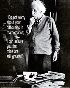Albert Einstein - Do Not Worry Quote Poster