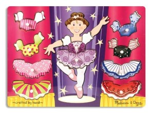 Melissa & Doug Ballerina Dress-Up Mix 'n Match Peg Puzzle