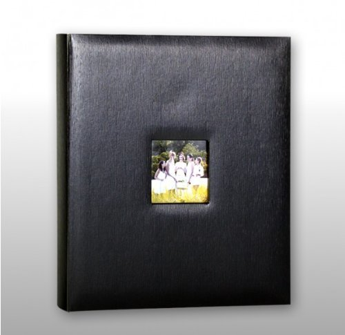 2 X KVD Kleer-Vu Deluxe Albums, Leatherette Collection, 500 photos, Photo Album Window Frame on Front Cover, Black