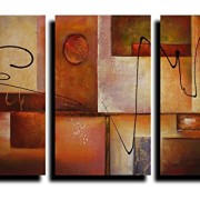 Amoy Art- Geometric Graphes- Modern Canvas Art Wall Decor Abstract Oil Painting on Canvas Wall Art Framed Ready to Hang (16inx24inx3)