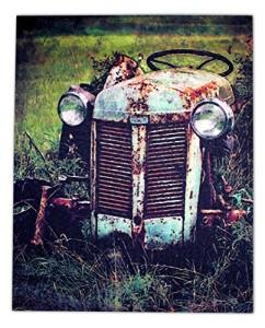 "20'' ""Old Tractor'' Flickering Light Canvas"
