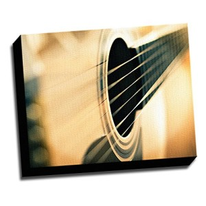"Acoustic Guitar Macro Photo 16""x20"" Wall Decoration Music Art Image Printed on Canvas Stretched and Framed Ready to Hang from Picture it on Canvas"