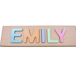 Child's Personalized Primary Name Puzzle- Up to 9 Letters