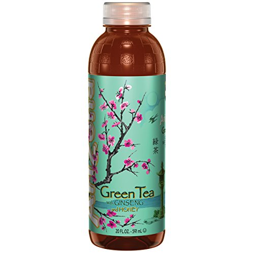 Arizona Green Tea With Ginseng And Honey, 20 Ounce (Pack Of 24)