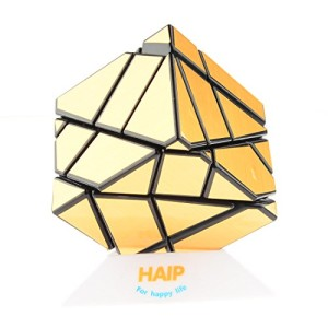 Magic Cube, Haip 3x3 Ghost Cube Puzzle Cube Magic Cube Gold (Base Holder/Bag Included)