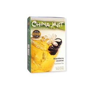 China Mist, Blackberry Jasmine Green Tea Bags for Iced Tea