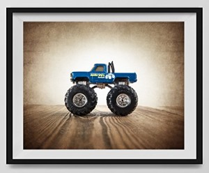 "Vintage Monster Truck Photo ""Bigfoot"", Boys room Wall art, Photo Decor, Monster truck room, Nursery decor, Kids Room Wall Art."