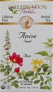 Celebration Herbals Organic Anise Seed Tea Caffeine Free, 24 Herbal Bags