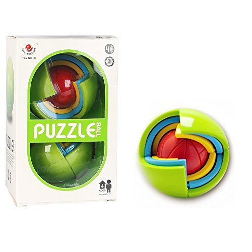 Ada005 3D Intelligence Ball Game puzzle | Establish high-order thinking logic | Learn the ability of control by combining mind and fingers(21 pieces)