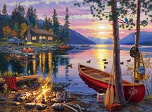 Buffalo Games Darrell Bush: Canoe Lake Jigsaw Bigjigs Puzzle (1000 Piece)