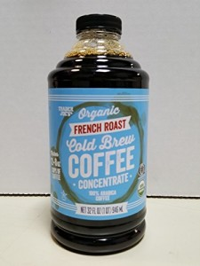 Trader Joe's Organic French Roast Cold Brew Coffee Concentrate 32 Oz. Bottle