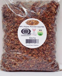 Certified Organic 100% Peruvian Cocoa Nibs 2 LBS Un-Roasted (Raw Food High in ORAC Value, Polyphenols, Flavanols & Antioxidants)