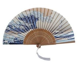 DawningView Japanese Handheld Folding Fan, with Traditional Japanese Ukiyo-e Art Prints (Great Wave Off Kanagawa)