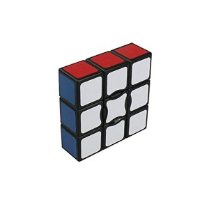 I-xun® Smooth Plastics 1X1X3 Speed Cube Sticker Magic Cube (Black)