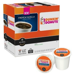 Dunkin Donuts French Vanilla Flavored Coffee K-Cups For Keurig K Cup Brewers